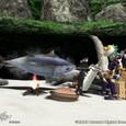 狩人の魚焼き