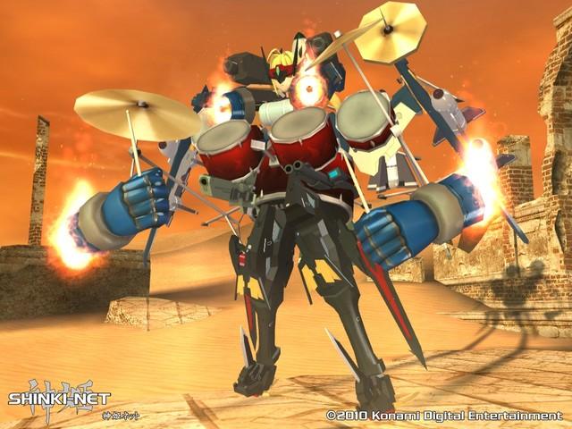 ドラムセットから作る神姫用合体パーツ